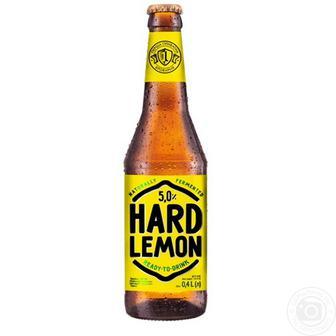 Скидка 26% ▷ ПИВО Hard Lemon, 0,4 л ПЕРША ПРИВАТНА БРОВАРНЯ