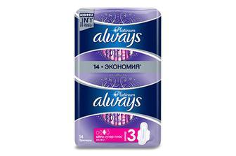 Прокладки гігієнічні Always Platinum Collection Super Plus, 14шт./уп