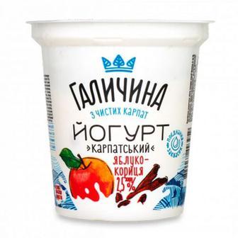 Йогурт Галичина яблуко-кориця 2,5% 280г
