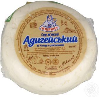 Сир м'який Адигейський 45% Добряна 100г