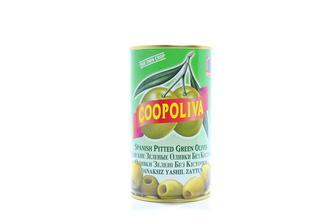 Оливки Cooponliva зелені з кісточкою 370 мл 350 мл