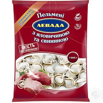 Пельмені зі свинини або з яловичиною та свининою ЛЕВАДА 1 кг