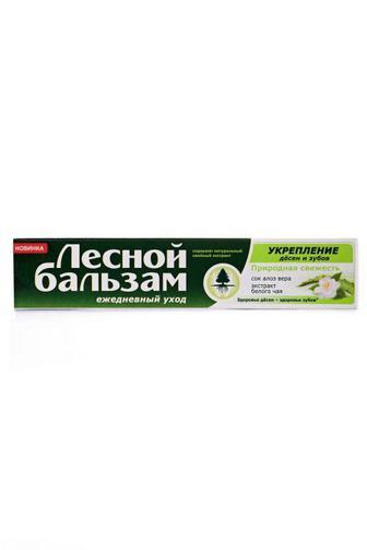 Зубная паста Лесной Бальзам Профилактическая с экстрактами алоэ-вера и белого чая на отваре трав 75 мл