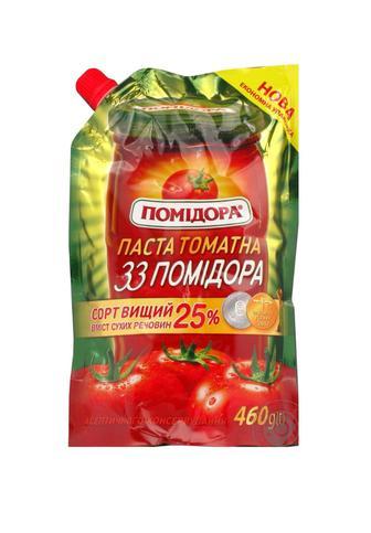 Скидка 19% ▷ ТОМАТНА ПАСТА 33 помідора, 460 г POMIDORA
