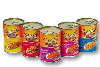 Корм консерви для котів з м'ясом птиці, дичиною та морквою/ з яловичиною/ птиці/ кролика / з рибою ТМ «Своя Лінія» Cat & Go