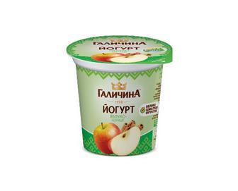 Йогурт «Галичина» яблуко-кориця 2,5% жиру, 280 г