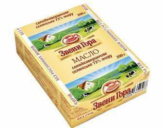 Масло вершкове 73%, Селянське, Звени Гора, 200г