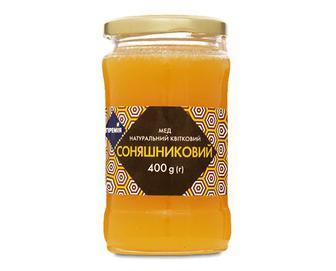 Мед натуральний квітковий соняшниковий «Премія»® 400г