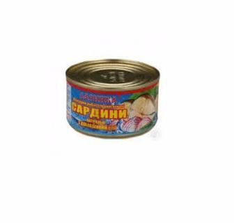 Сардина натуральна з додаванням олії Даринка 240г