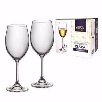Набор бокалов для вина 6*250 мл, Klara, Bohemia