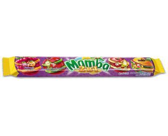 Цукерки Mamba жувальні асорті, 2 в 1, 106г