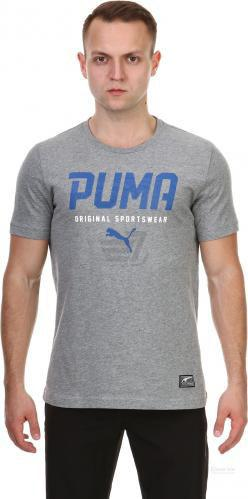 Футболка Puma Style Tec Graphic Tee р. M сірий
