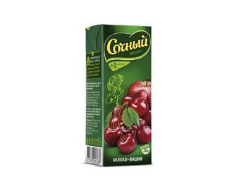 Скидка 14% ▷ Нектар «Сочный фрукт» яблуко-вишня, 0,2 л