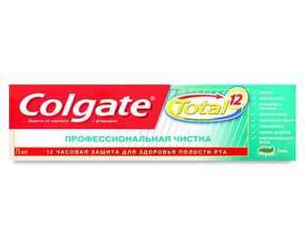 Паста зубна Colgate Total 12 «Професійне чищення» гель, 75мл