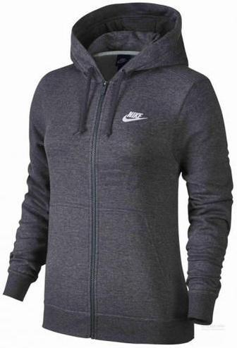Джемпер Nike W NSW HOODIE FZ FLC 853930-071 р. XS сірий