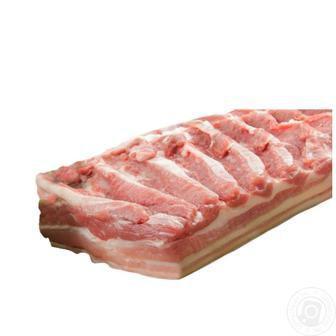 Грудинка свиняча з кісткою,  зі шкурою охолоджена  1 кг