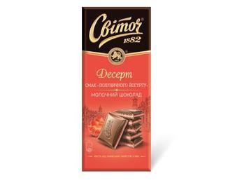 Шоколад молочный Світоч Десерт вкус клубничного йогурта Nestle, 90г