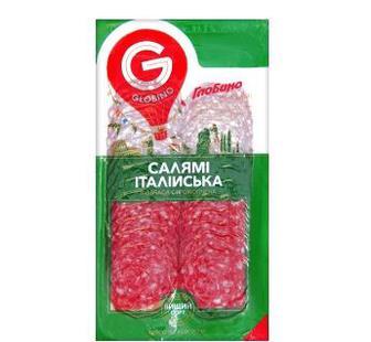 Колбаса нарезка Салями итальянская Глобино 80г