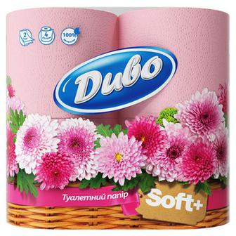 Папір туалетний Диво Soft рожевий 4шт