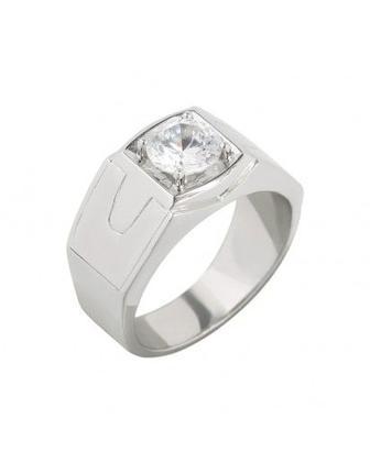Кольцо серебрянное с фианитом