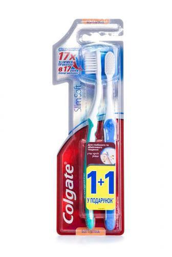 Зубная щетка Colgate шелковые нити 1+1
