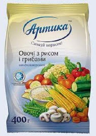 Овочі з рисом і грибами свжоморожені, Арктика,400г
