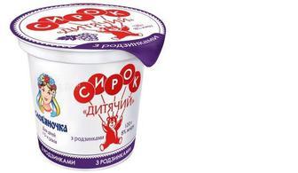 Сирок солодкий 15 % «Дитячий» зі смаком ванілі, Слов'яночка, 120 г
