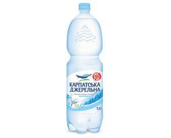 Вода мінеральна Карпатська Джерельна, негазована, 1,5 л