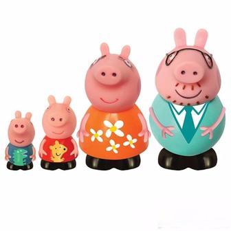 Набір іграшок бризкунчиків Родина Пеппи 4 фігурки