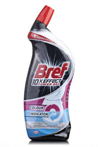 Средство для чистки туалета Bref Пауэр Гель 10в1 Ярко Белый, 700 мл