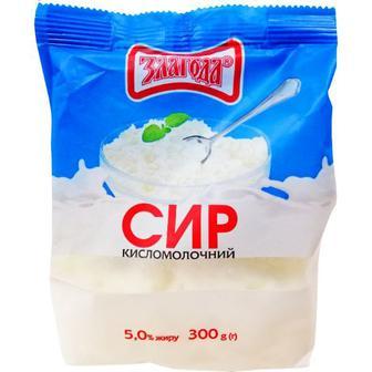 Сир кисломолочний 5% 300г Злагода