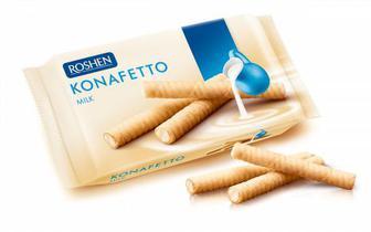 Вафельні трубочки Konafetto з молочною начинкою 156г