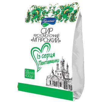 Сир кисломолочний Мгарський Гармонія 5% 0,4кг