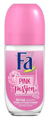 Антиперспірант для жінок Fa Pink Passion Pink Passion Чуттєва троянда кульковий 50 мл