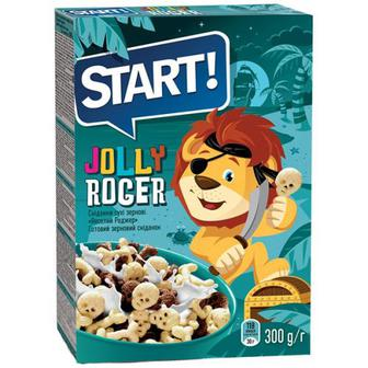 Скидка 25% ▷ Пластівці Start Веселий Роджер зерновий сніданок 300г