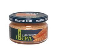 Iкра мойви в білому соусі з копченим лососем, Master Fish, 180г