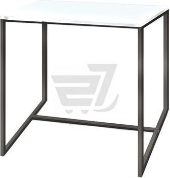 Стіл журнальний Куб 400 перлинний/чорний 400x400x415мм Commus