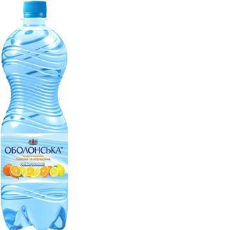 Вода Оболонська зі смак.лимон та апельсину газована, Оболонь, 1 л