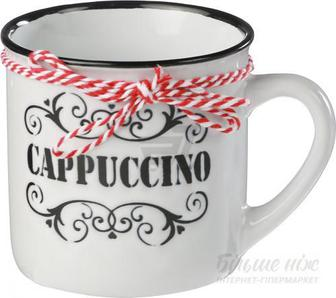 Чашка Cappuccino 360 мл біла з чорним