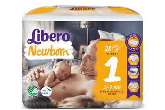 Підгузки Libero Newborn 1 (2-5 кг) 28 шт./уп
