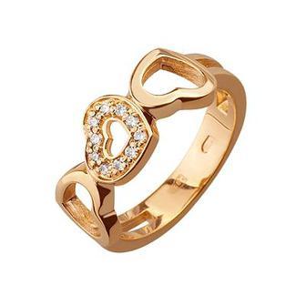 Золота каблучка з діамантом (1б_к-066/169)