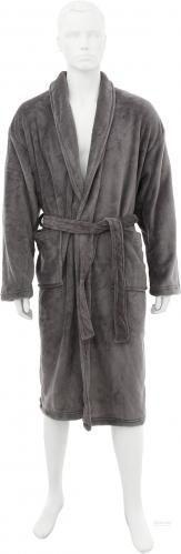 Набір La Nuit Solid халат чоловічий та взуття р. M сірий