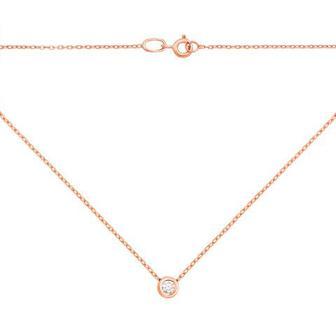 Золотое колье с бриллиантом. Артикул 52963/3
