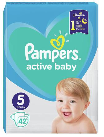 Подгузники Pampers Active Baby-Dry Junior р.5 (11-16 кг) 42 шт