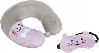 Подушка дорожня Kitty + маска Luna