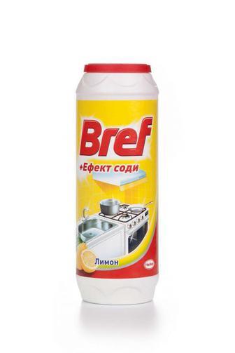 Чистящий порошок Bref Лимон + сода эффект, 500г
