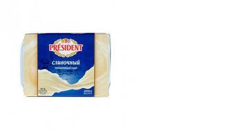 Сыр плавленый Сливочный, PRESIDENT, 200г