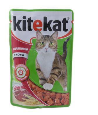 Корм для котів Kitekat з телятиною в соусі, 100 г
