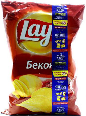 Чіпси Lays зі смаком бекону 133г х20