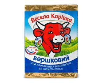 Сир плавлений «Весела корівка» «Вершковий» 46% жиру, 90г